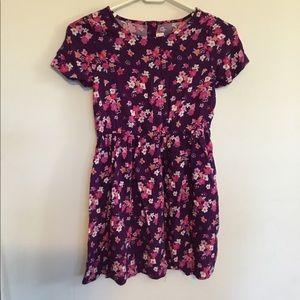 Gymboree rayon purple floral dress girls size 10